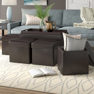 Aquavia 5 Piece Storage Ottoman Set
