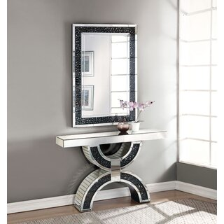"Rae 47"" Console Table and Mirror by Rosdorf Park SKU:BC511933 Check Price"
