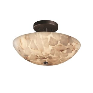 Conovan 2-Light Semi Flush Mount by Rosecliff Heights