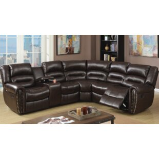 Red Barrel Studio Stayton 3 Piece Leather Reclining Sectional Set