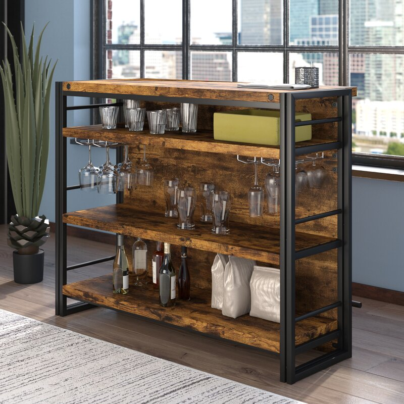 Diy Build A Bar Cabinet: Williston Forge Felicita Bar With Wine Storage & Reviews