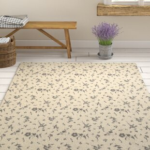 Top Reviews Hepner Floral Dance Ivory/Charcoal Area Rug ByAugust Grove