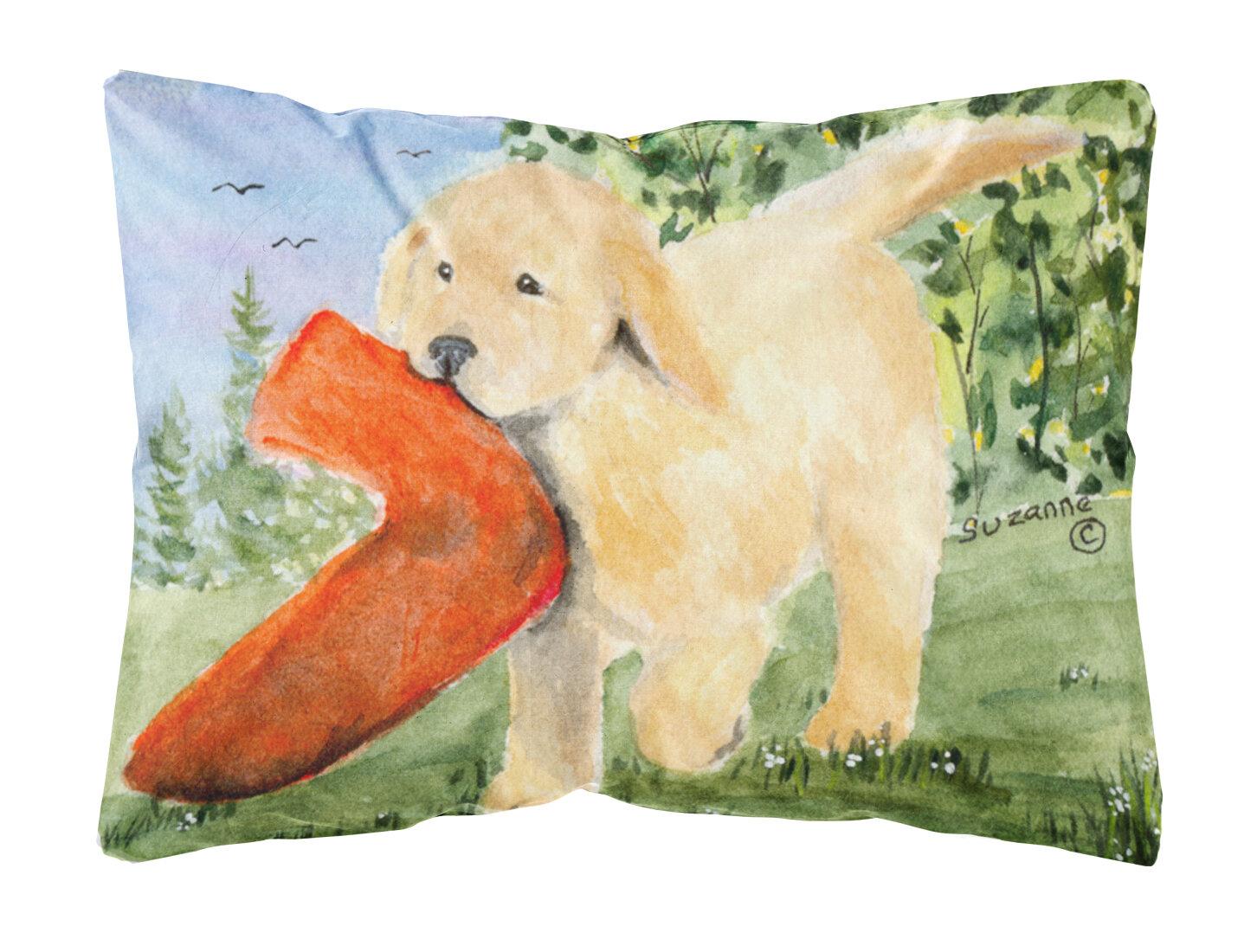 East Urban Home Golden Retriever Indoor Outdoor Throw Pillow Wayfair
