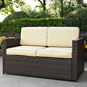 Elegant Belton Loveseat With Cushions