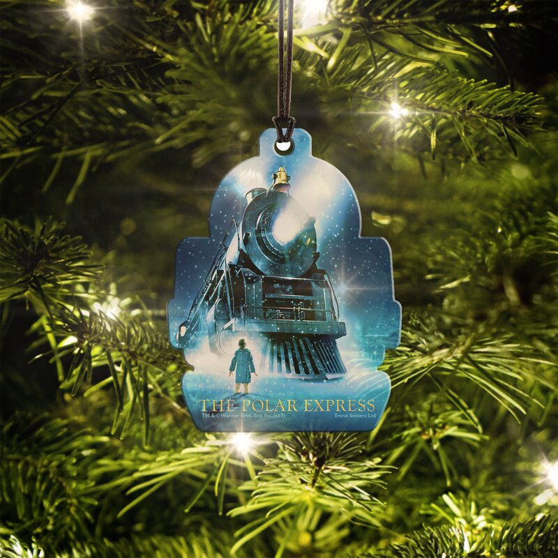 Polar Express Hanging Train Shaped Ornament - Trend Setters Polar Express Hanging Train Shaped Ornament Wayfair