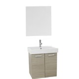Liberatore 24 Wall-Mounted Single Bathroom Vanity Set with Mirror by Ivy Bronx
