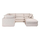 McGrath Modular Sectional with Ottoman by Rosecliff Heights