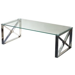 Westnedge Glass Coffee Table by Ebern Des..