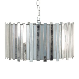 Worlds Away Antique Mirror Faceted 1-Light Pendant