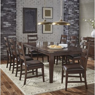 Aguayo Extendable Solid Wood Dining Table
