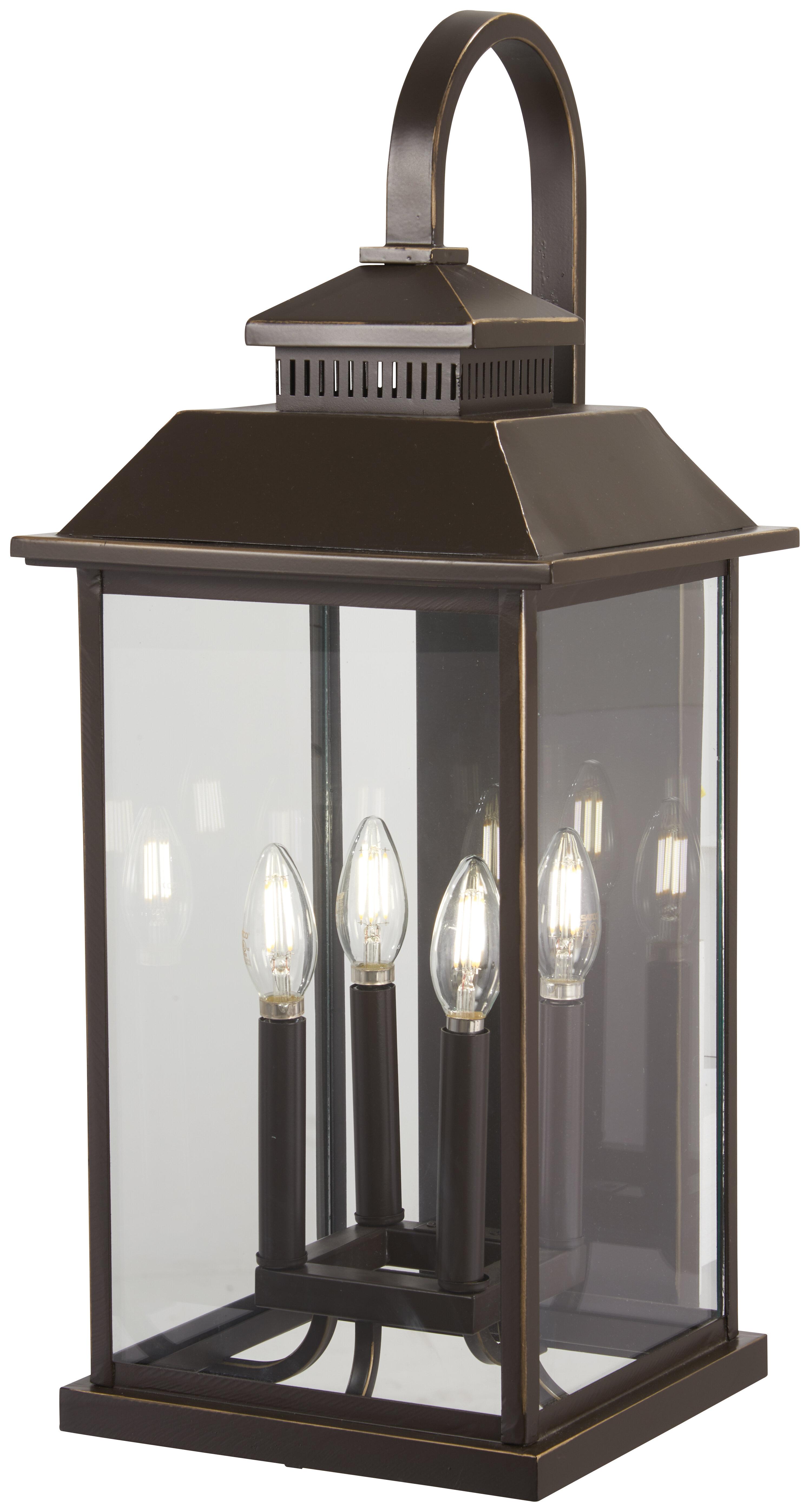 4 Light Lantern Outdoor Wall Lighting You Ll Love In 2021 Wayfair