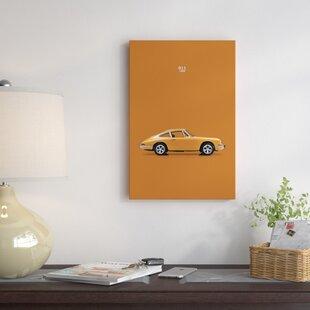 '1968 Porsche 911' Graphic Art Print on Canvas ByEast Urban Home