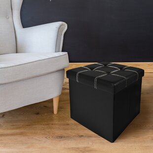 Watkins Collapsible Storage Ottoman by Winston Porter