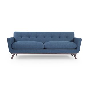 Luther Mid Century Modern Vintage Sofa with Wood Legs Corrigan Studio