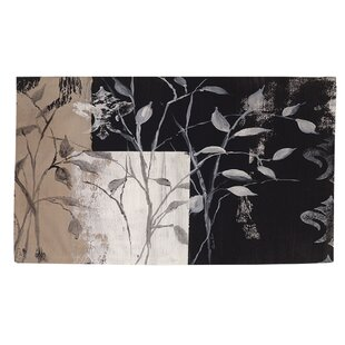 Reviews African Leaf Abstract Area Rug ByManual Woodworkers & Weavers