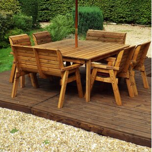 Frazier 8 Seater Dining Set With Cushions By Union Rustic