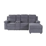 Demarquise 96.27 Wide Linen Right Hand Facing Reclining Sofa & Chaise by Latitude Run®