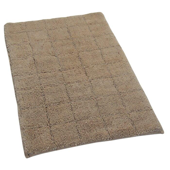 Laughlin 100 Cotton Summer Tile Spray Latex Back Bath Rug