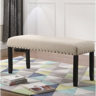 Haysi Upholstered Bench with Nailhead Trim by Greyleigh