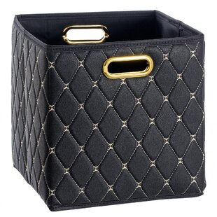 Reviews Faux Leather Storage Bin By Mercer41