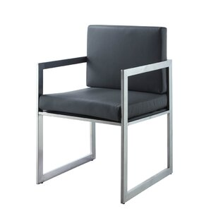 Rectangulo Arm Chair (Set of 2) by Whiteline Imports