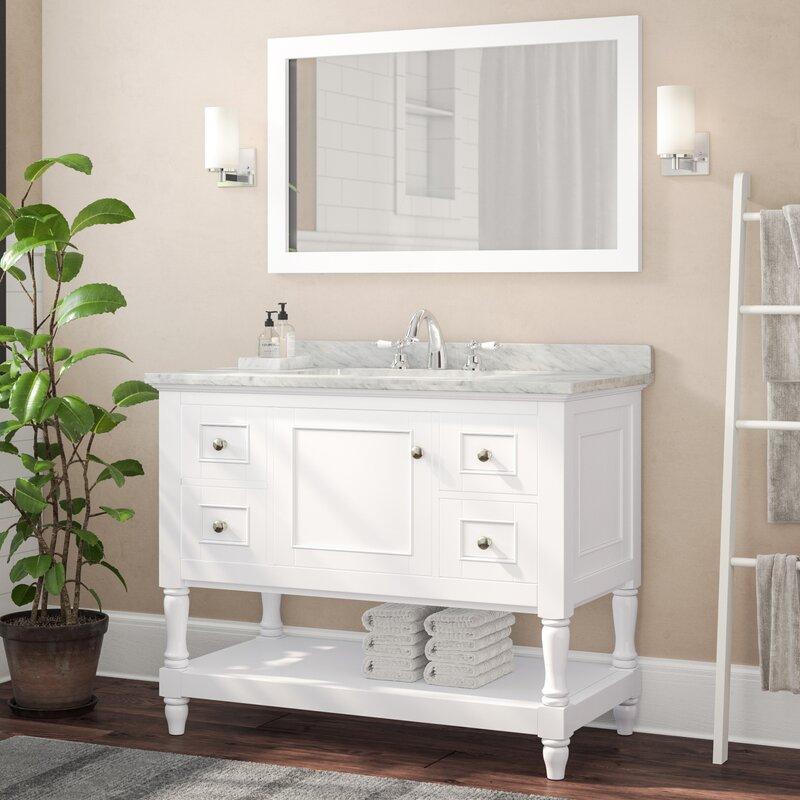 "42"" Single Bathroom Vanity Set with Mirror"