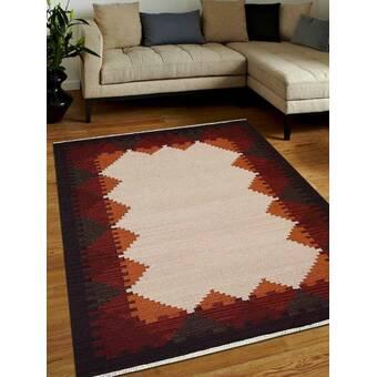Union Rustic Manns Geometric Handmade Wool Multicolor Area Rug Reviews Wayfair