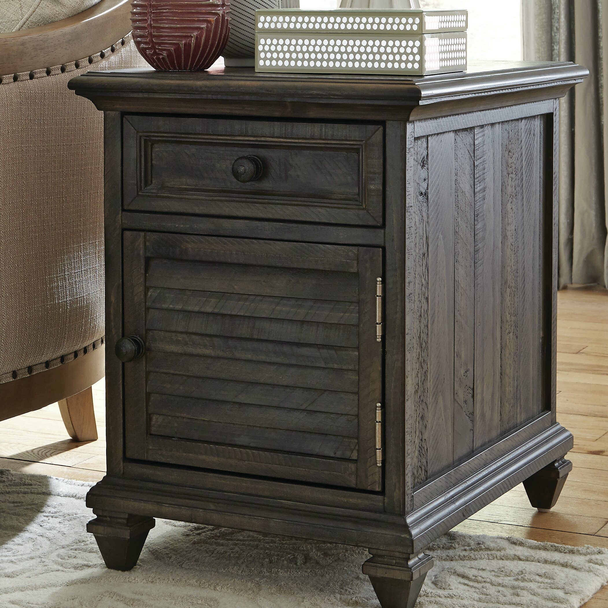 August Grove Heitman End Table With Storage Reviews Wayfair
