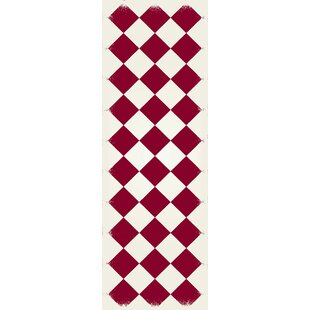 Buy Jonesberg Diamond European Red/White Indoor/Outdoor Area Rug By Winston Porter