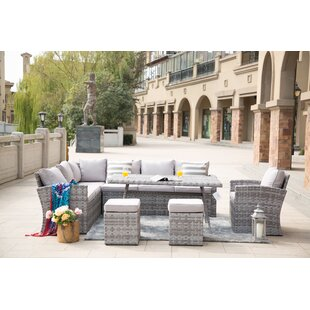 Broome Outdoor 6 Piece Sectional Seating Group with Cushions