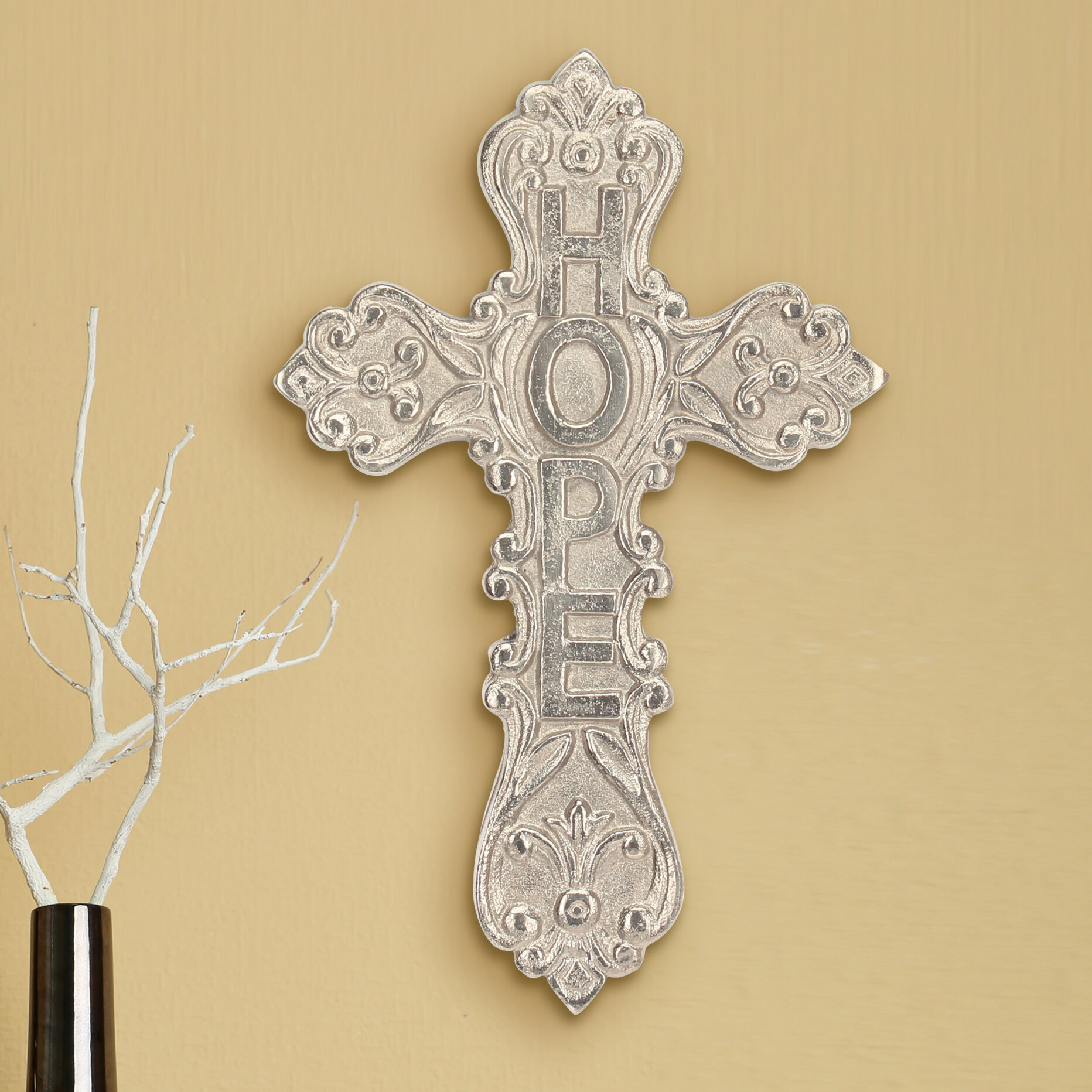 Funky Metal Cross Wall Decor Wholesale Gift - Wall Art Collections ...