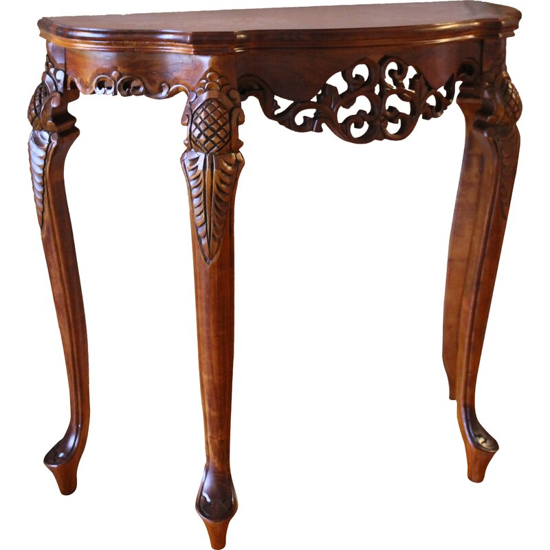 Windsor Hand Carved Wood Indoor Console