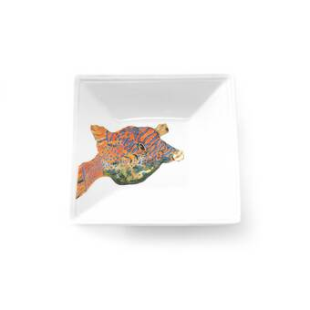 Thomas Paul Scrimshaw Oval Whale Melamine Platter Reviews Wayfair