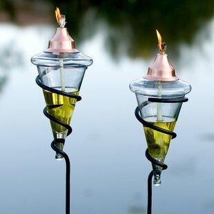 H. Potter Spiral Garden Torch (Set of 2)