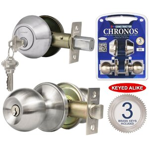 Constructor Chronos Single Cylinder Entrance Knobset