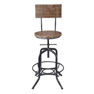 Goldsmith Adjustable Height Bar Stool by Williston Forge