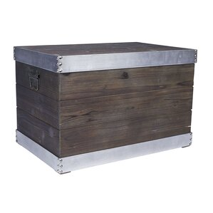 Large Trim Wooden Storage Trunk