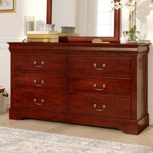Three Posts Hutcheson 6 Drawer Double Dresser