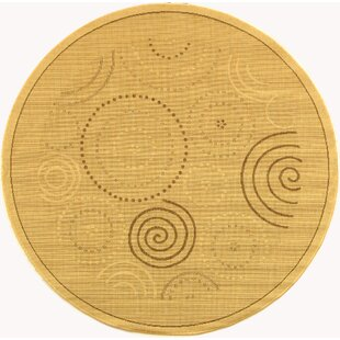 Mullen Geometric Circles Indoor/Outdoor Area Rug by Ebern Designs