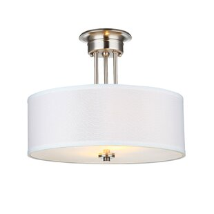 Anakin 2-Light Semi Flush Mount by Andover Mills
