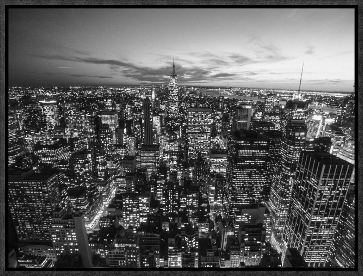Global Gallery Manhattan Skyline With The Empire State Building New York City By Michel Setboun Framed Photographic Print On Canvas Wayfair