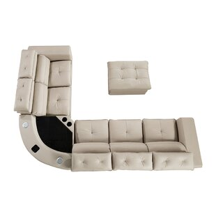 Vidaurri Leather Sectional with Ottoman