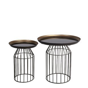 Waelder Glass Top Frame Nesting Tables by Williston Forge