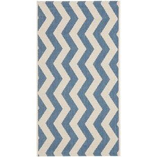 Mullen Blue/Beige Indoor/Outdoor Area Rug byEbern Designs