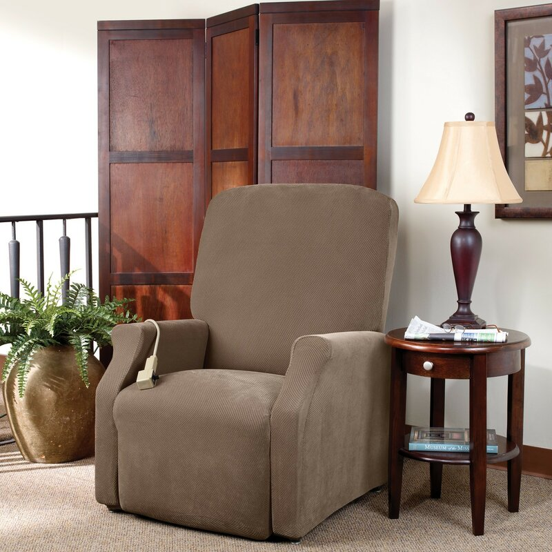 slipcovers recliner chairs reupholstered wingback reclining spoonfulofjemily ideas l chair