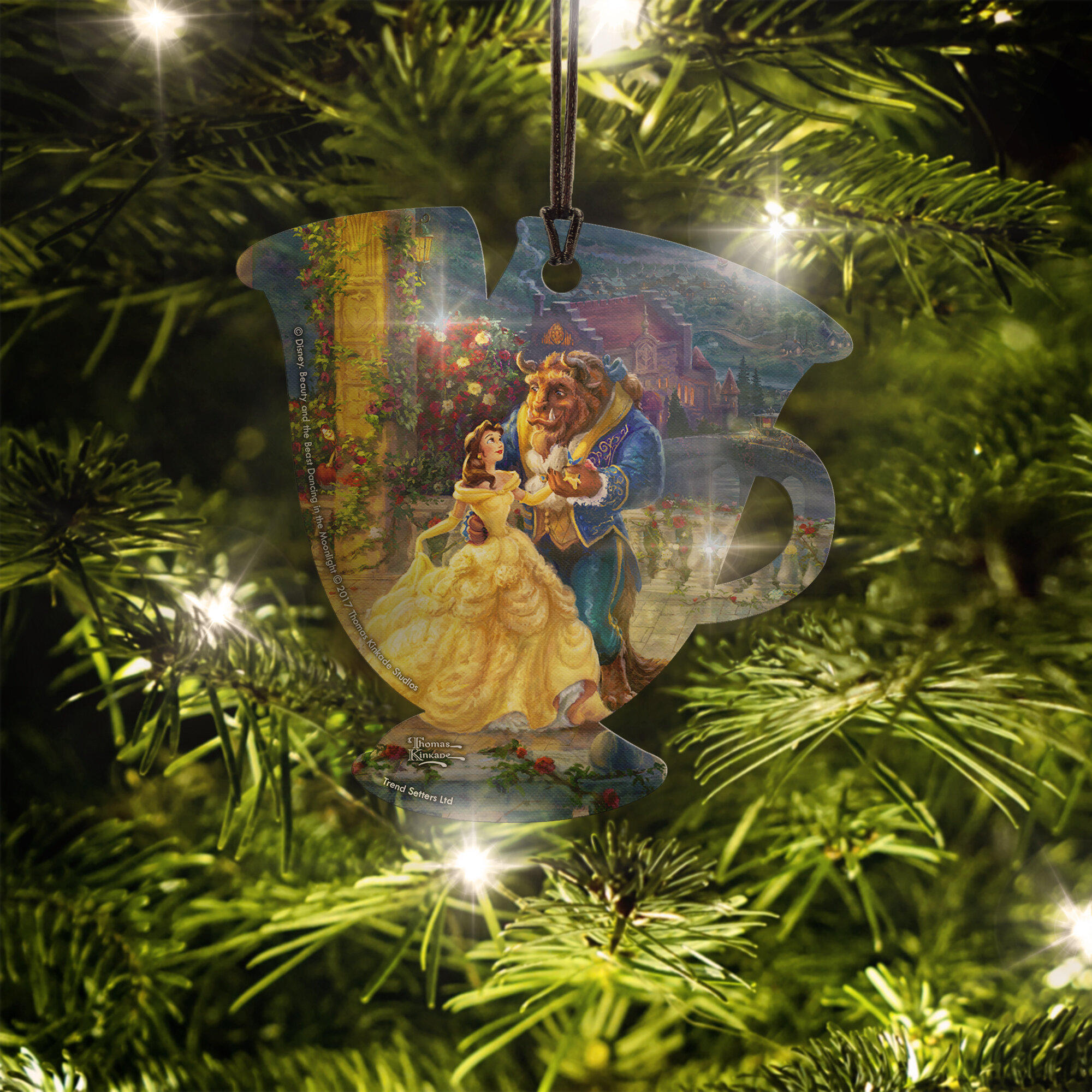 Hanging Christmas Ornaments Silhouette.Trend Setters Disney Beauty And The Beast Chip Hanging