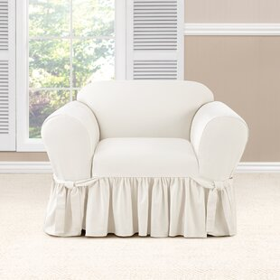 Essential Twill Box Cushion Armchair Slipcover