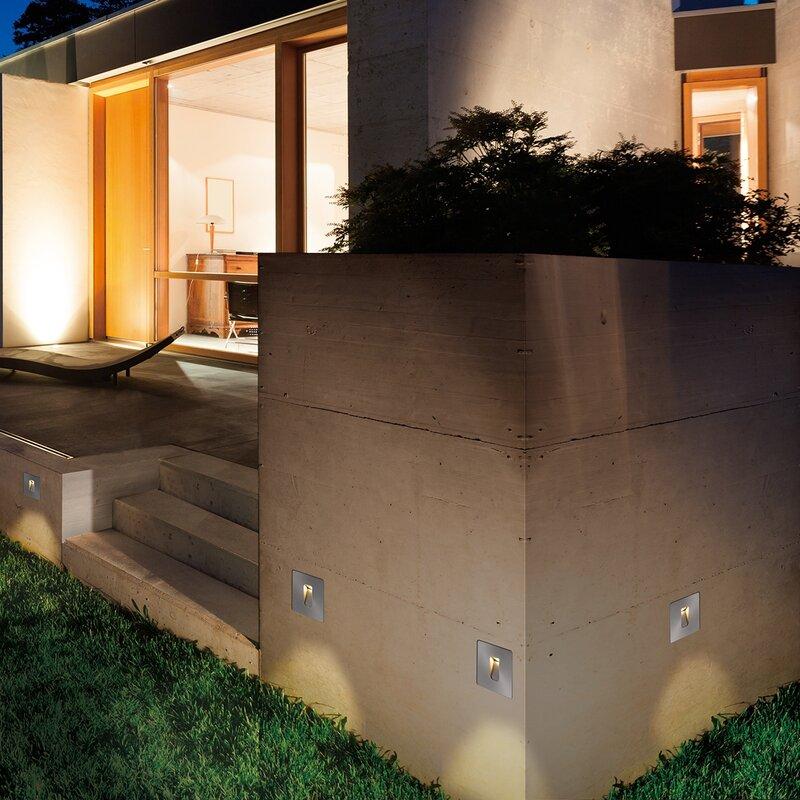 Eurofase Outdoor In-Wall 1 Light LED Deck, Step, or Rail Light | Wayfair