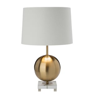 Modern contemporary gold base table lamp allmodern save aloadofball Gallery