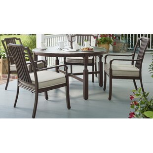 Bade 5 Piece Sunbrella Dining Set with Cushions by Canora Grey